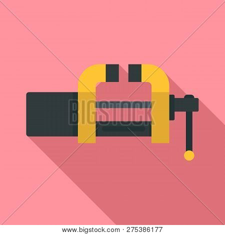 Garage vice icon. Flat illustration of garage vice vector icon for web design poster
