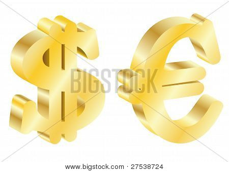 Gold Dollar And The Euro