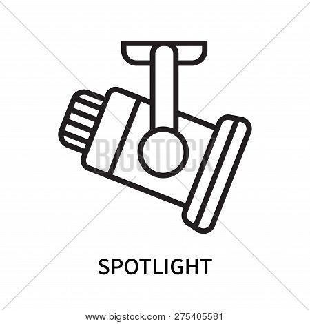 Spotlight Icon Isolated On White Background. Spotlight Icon Simple Sign. Spotlight Icon Trendy And M