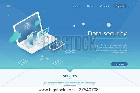 Safety And Confidential Data Protection, Concept With Character Saving Code And Check Access. Data P