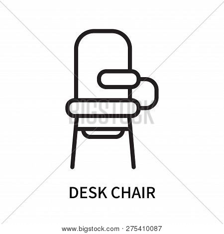 Desk Chair Icon Isolated On White Background. Desk Chair Icon Simple Sign. Desk Chair Icon Trendy An