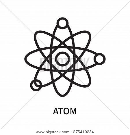 Atom Icon Isolated On White Background. Atom Icon Simple Sign. Atom Icon Trendy And Modern Symbol Fo