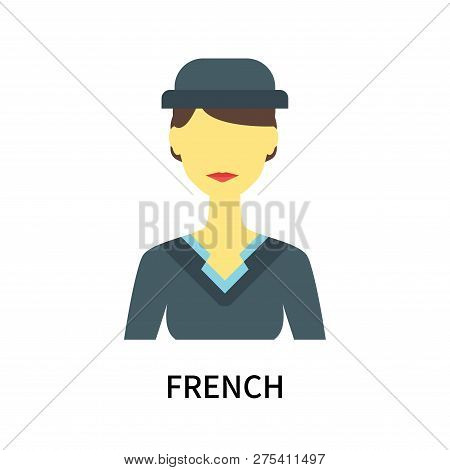 French Icon Isolated On White Background. French Icon Simple Sign. French Icon Trendy And Modern Sym