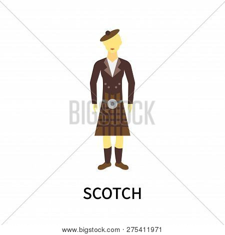 Scotch Icon Isolated On White Background. Scotch Icon Simple Sign. Scotch Icon Trendy And Modern Sym