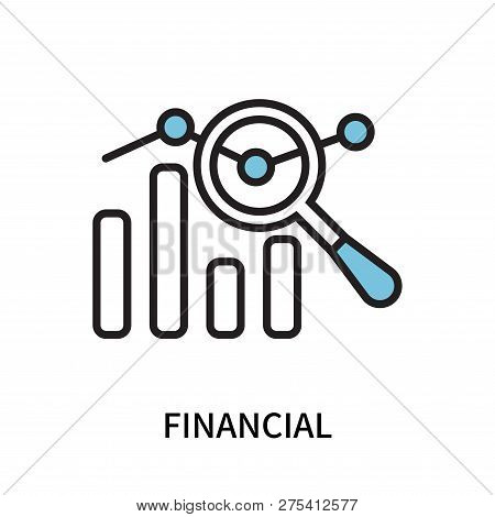 Financial Icon Isolated On White Background. Financial Icon Simple Sign. Financial Icon Trendy And M