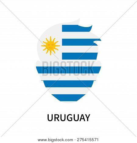 Uruguay Icon Isolated On White Background. Uruguay Icon Simple Sign. Uruguay Icon Trendy And Modern