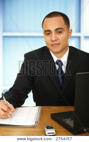 Business Man Working In His Office