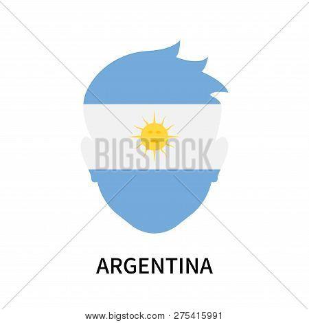 Argentina Icon Isolated On White Background. Argentina Icon Simple Sign. Argentina Icon Trendy And M