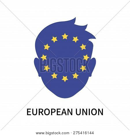 European Union Icon Isolated On White Background. European Union Icon Simple Sign. European Union Ic