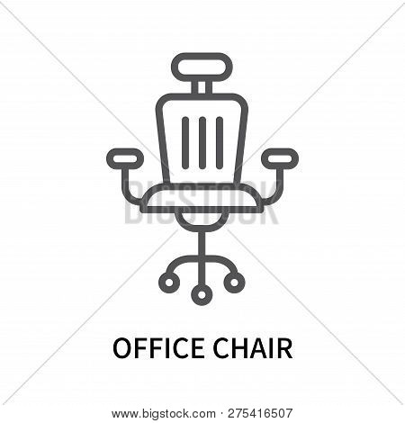 Office Chair Icon Isolated On White Background. Office Chair Icon Simple Sign. Office Chair Icon Tre