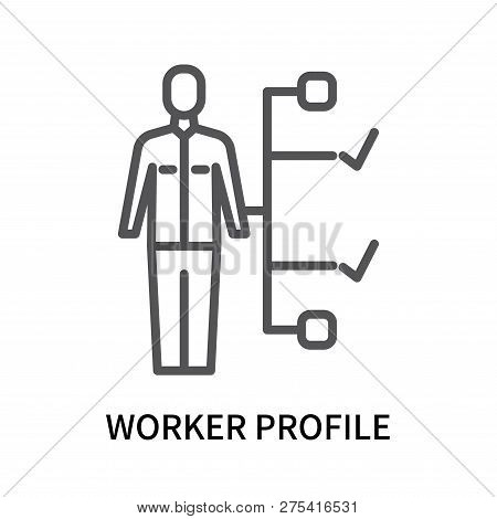 Worker Profile Icon Isolated On White Background. Worker Profile Icon Simple Sign. Worker Profile Ic