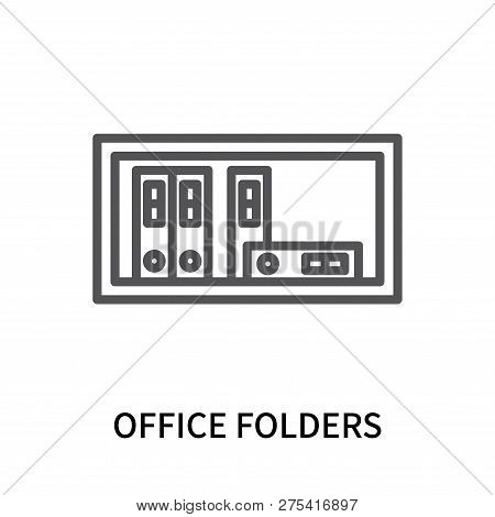 Office Folders Icon Isolated On White Background. Office Folders Icon Simple Sign. Office Folders Ic