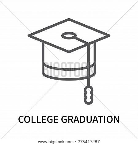 College Graduation Icon Isolated On White Background. College Graduation Icon Simple Sign. College G