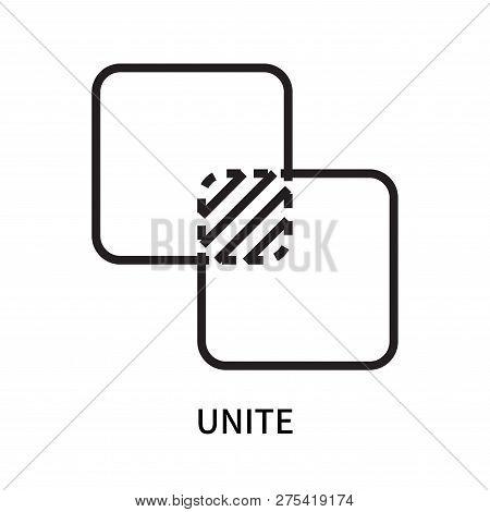 Unite Icon Isolated On White Background. Unite Icon Simple Sign. Unite Icon Trendy And Modern Symbol