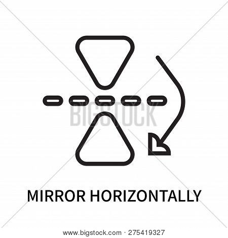 Mirror Horizontally Icon Isolated On White Background. Mirror Horizontally Icon Simple Sign. Mirror