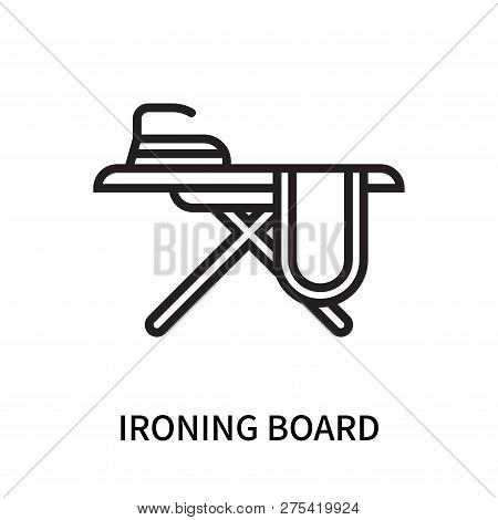 Ironing Board Icon Isolated On White Background. Ironing Board Icon Simple Sign. Ironing Board Icon