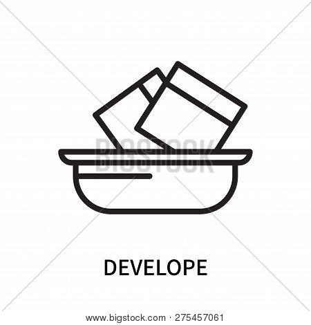 Develope Icon Isolated On White Background. Develope Icon Simple Sign. Develope Icon Trendy And Mode