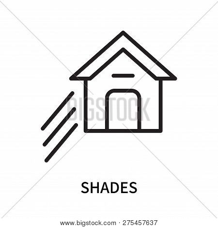 Shades Icon Isolated On White Background. Shades Icon Simple Sign. Shades Icon Trendy And Modern Sym