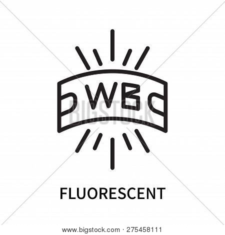Fluorescent Icon Isolated On White Background. Fluorescent Icon Simple Sign. Fluorescent Icon Trendy