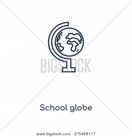 School Globe Icon In Trendy Design Style. School Globe Icon Isolated On White Background. School Glo
