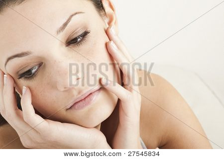 Pensive/Sad Teenage Girl