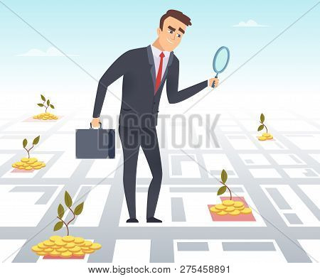 Business Investor. Office Manager Director Business Successful Person Search Finance Opportunities M