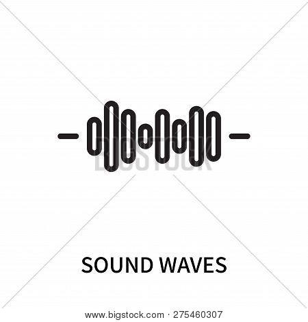 Sound Waves Icon Isolated On White Background. Sound Waves Icon Simple Sign. Sound Waves Icon Trendy
