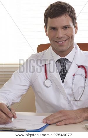 Portrait of a male doctor in his office