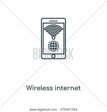 Wireless Internet Icon In Trendy Design Style. Wireless Internet Icon Isolated On White Background.