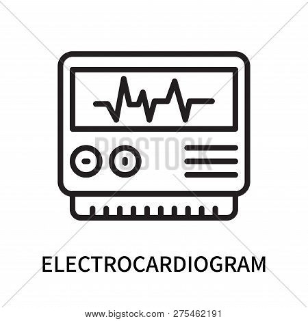 Electrocardiogram Icon Isolated On White Background. Electrocardiogram Icon Simple Sign. Electrocard