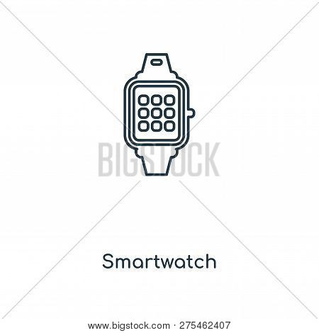 Smartwatch Icon In Trendy Design Style. Smartwatch Icon Isolated On White Background. Smartwatch Vec