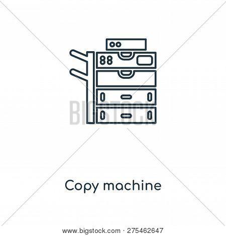 Copy Machine Icon In Trendy Design Style. Copy Machine Icon Isolated On White Background. Copy Machi