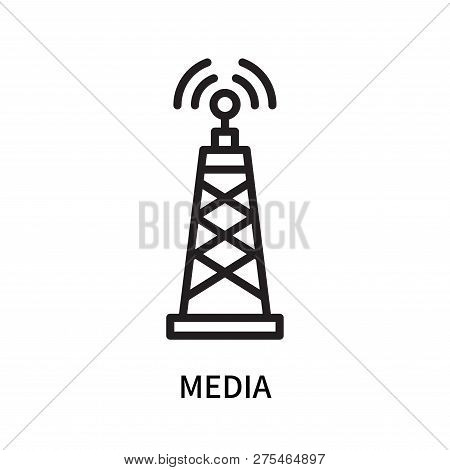 Media Icon Isolated On White Background. Media Icon Simple Sign. Media Icon Trendy And Modern Symbol