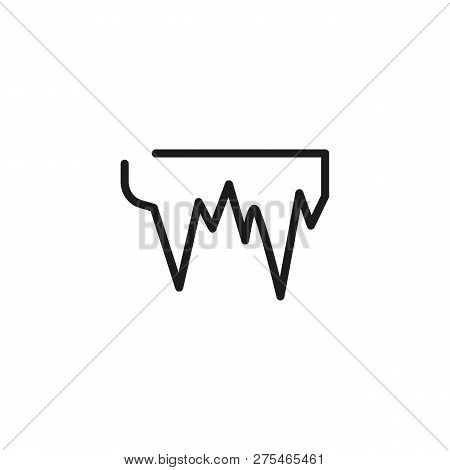 Icicle Line Icon. Ice, Winter, Refrigerator. Weather Concept. Vector Illustration Can Be Used For To