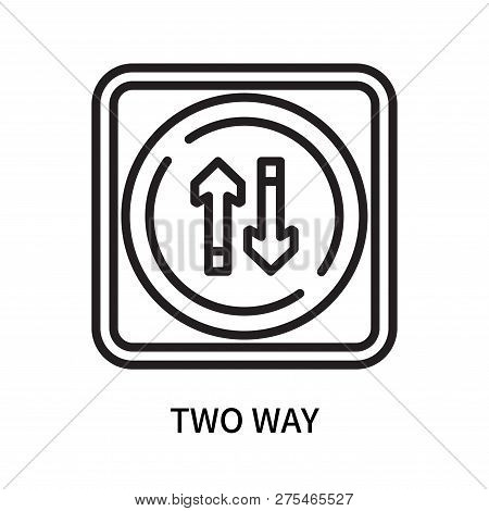 Two Way Icon Isolated On White Background. Two Way Icon Simple Sign. Two Way Icon Trendy And Modern