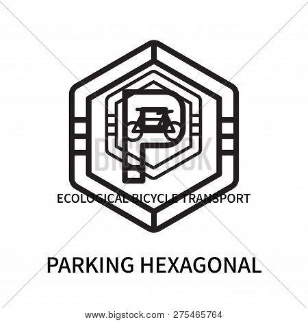 Parking Hexagonal Icon Isolated On White Background. Parking Hexagonal Icon Simple Sign. Parking Hex
