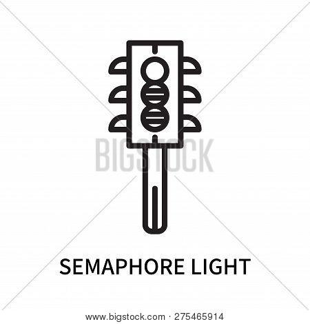Semaphore Light Icon Isolated On White Background. Semaphore Light Icon Simple Sign. Semaphore Light