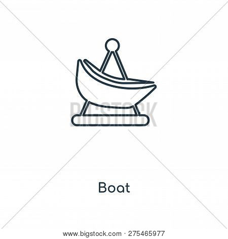 Boat Icon In Trendy Design Style. Boat Icon Isolated On White Background. Boat Vector Icon Simple An