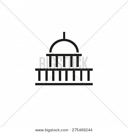 Washington Line Icon. Capitol, Congress, Dc. Landmarks Concept. Can Be Used For Topics Like Usa, Cap