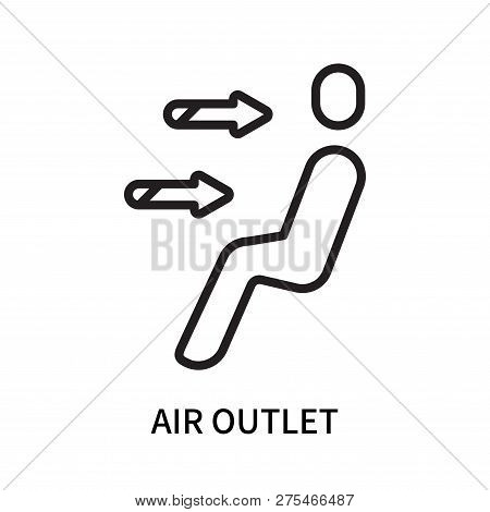 Air Outlet Icon Isolated On White Background. Air Outlet Icon Simple Sign. Air Outlet Icon Trendy An