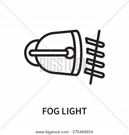 Fog Light Icon Isolated On White Background. Fog Light Icon Simple Sign. Fog Light Icon Trendy And M