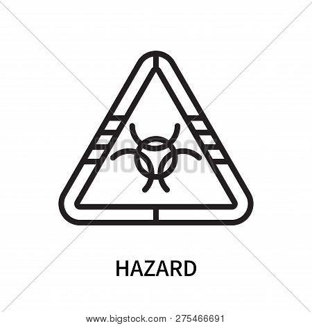 Hazard Icon Isolated On White Background. Hazard Icon Simple Sign. Hazard Icon Trendy And Modern Sym