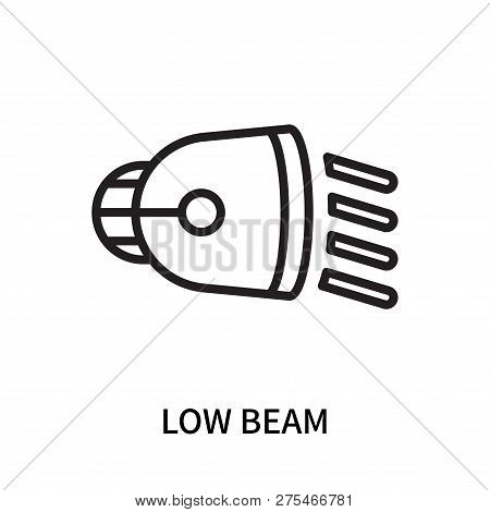 Low Beam Icon Isolated On White Background. Low Beam Icon Simple Sign. Low Beam Icon Trendy And Mode