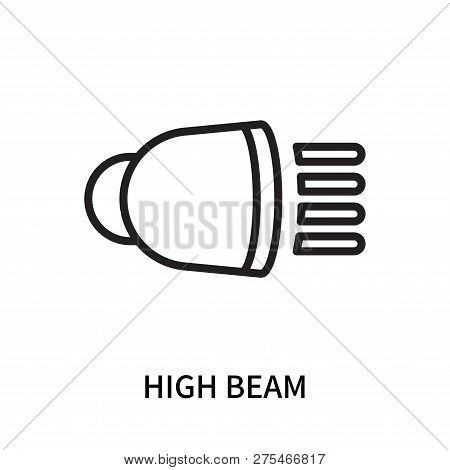 High Beam Icon Isolated On White Background. High Beam Icon Simple Sign. High Beam Icon Trendy And M