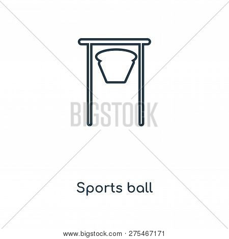 Sports Ball Icon In Trendy Design Style. Sports Ball Icon Isolated On White Background. Sports Ball