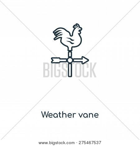 Weather Vane Icon In Trendy Design Style. Weather Vane Icon Isolated On White Background. Weather Va