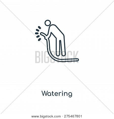 Watering Icon In Trendy Design Style. Watering Icon Isolated On White Background. Watering Vector Ic