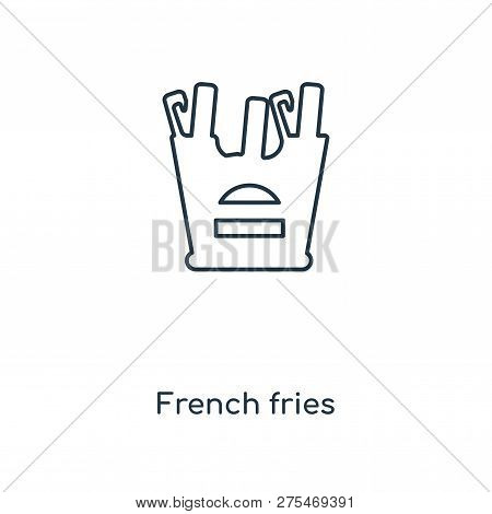 French Fries Icon In Trendy Design Style. French Fries Icon Isolated On White Background. French Fri