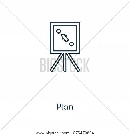 Plan Icon In Trendy Design Style. Plan Icon Isolated On White Background. Plan Vector Icon Simple An