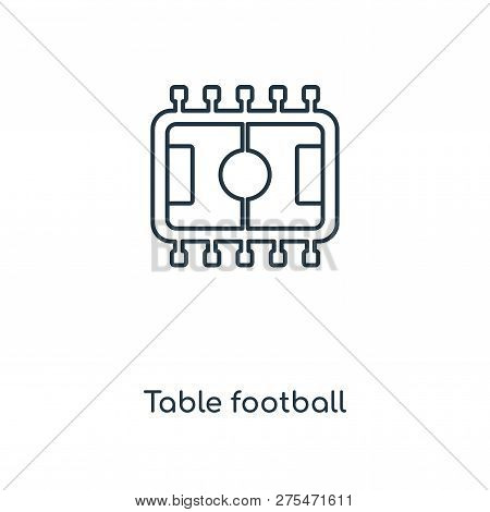Table Football Icon In Trendy Design Style. Table Football Icon Isolated On White Background. Table